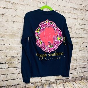 Simply Southern Elephant Long Sleeve Tee SZ Small
